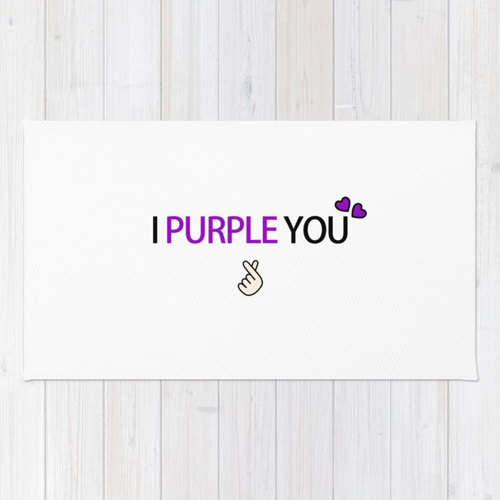 Bts I Purple You Rug By Keuphonii Society6