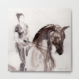 Horse (Dressage sketch) Metal Print