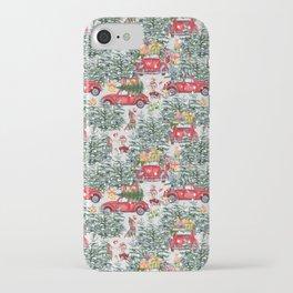 Dachshund decorates the christmas tree iPhone Case
