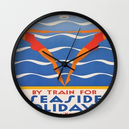 Vintage poster - Seaside holidays Wall Clock