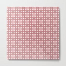 Pastel Pink X pattern design Metal Print