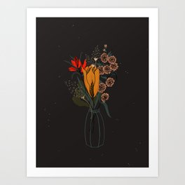 Midnight Floral Art Print