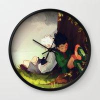 viria Wall Clocks featuring Gon and Killua by viria