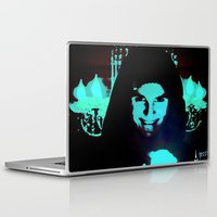 scary Laptop & iPad Skins featuring Scary Man by Jussi Lovewell