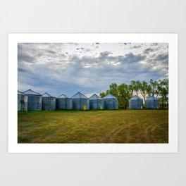 Grain Bins 3 Art Print