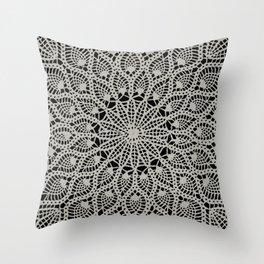 Delicate - Silver Throw Pillow