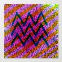 weird Canvas Prints featuring WEIRD by KATE KOSEK