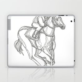 Horse Racing Jockey Doodle Art Laptop & iPad Skin