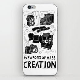 Weapons Of Mass Creation - Photography (blockprint) iPhone Skin