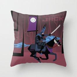 Last Ride of Samurai Jack Throw Pillow