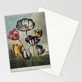 Reinagle, Philip (1749-1833)  - The Temple of Flora 1807 - Tulips Stationery Cards