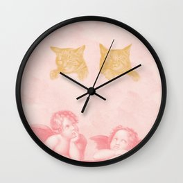 Contemplation of Cats Poster Wall Clock