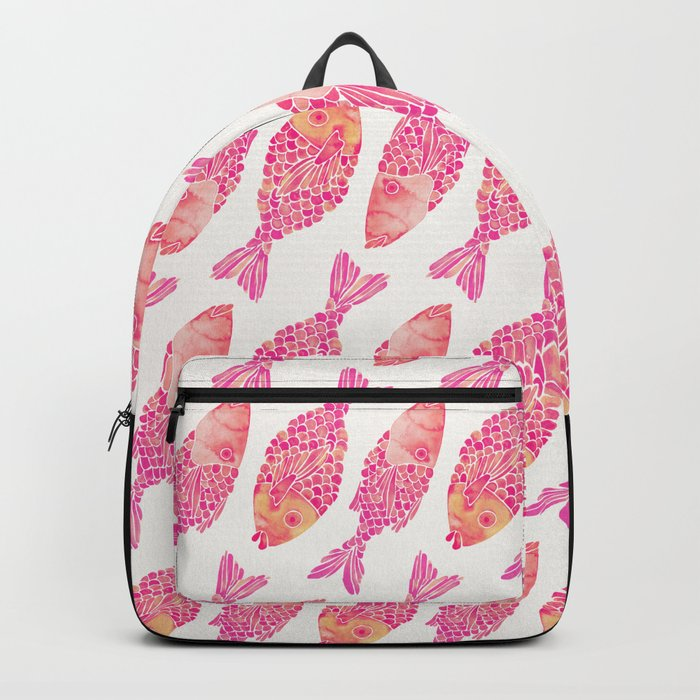 Indonesian Fish Duo – Pink Palette Backpack