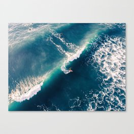 Surf from above Canvas Print