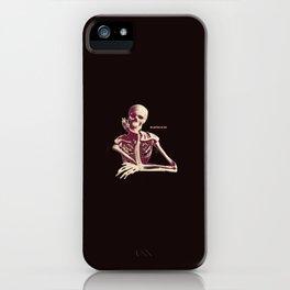Skeleton Waiting iPhone Case