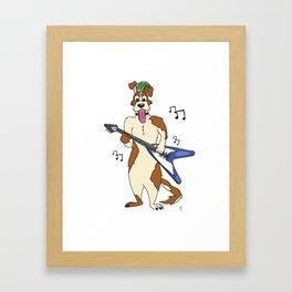 Jammin' Dog Framed Art Print