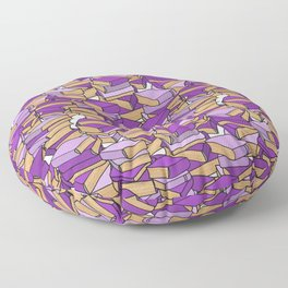 Book Collection in Purple Floor Pillow
