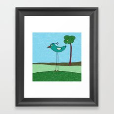 Tall Bird and a Tree Framed Art Print