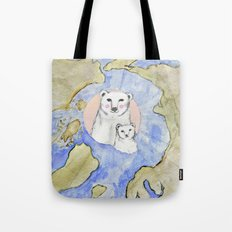 Polar Bear Portrait Tote Bag
