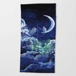 The Doctor Dreaming Of Fishing Beach Towel