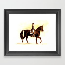 Horses and People No.2 Framed Art Print
