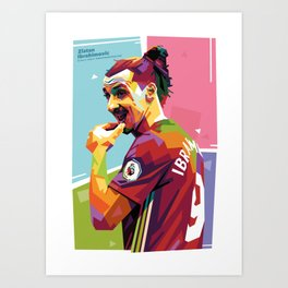 Zlatan Ibrahimovic alt-color WPAP Art Print