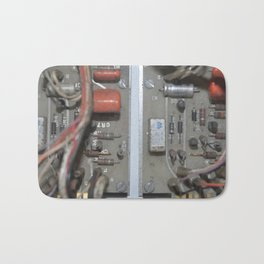 1960's Church Timer Cyberpunk Gaslight Tech Retro Circuit Board Bath Mat