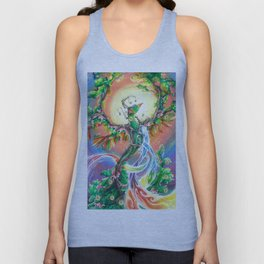 Wooden Bird of Paradise  Unisex Tank Top