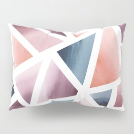 Abstract Geometric Watercolor Pillow Sham