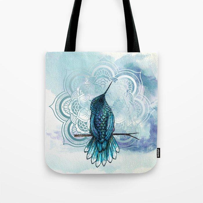 Aquarela hummingbird Tote Bag