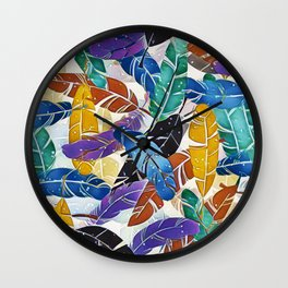 Fabulous Feathers Wall Clock