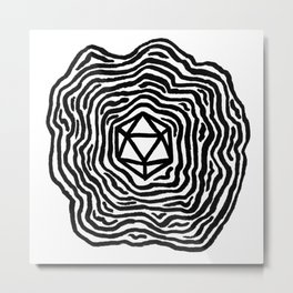 The d20 Metal Print