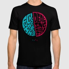 Half of life is fucking up SMALL Mens Fitted Tee Black
