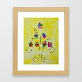 Cupcake Display Framed Art Print