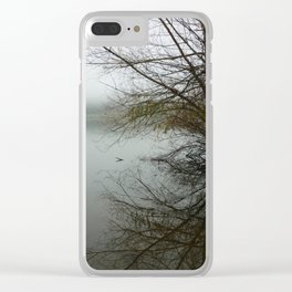 The fog, the lake & the trees Clear iPhone Case