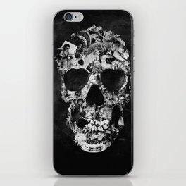 Vintage Skull BW iPhone Skin