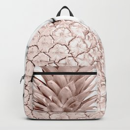 Pineapple Rose Gold Marble Backpack