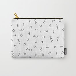 Geometric print pattern - Celin white Carry-All Pouch