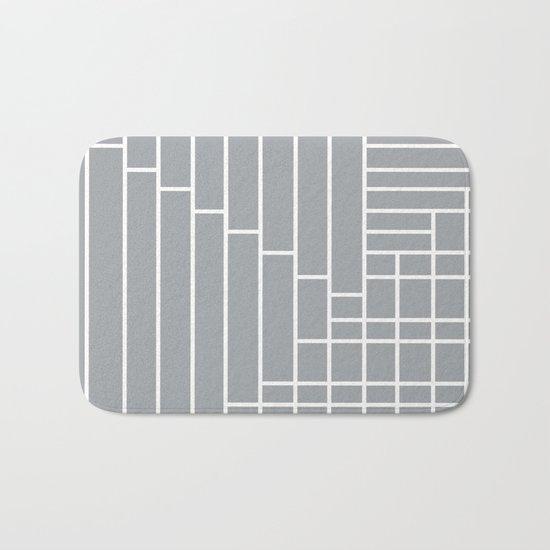 Fuzz Outline Grey Bath Mat