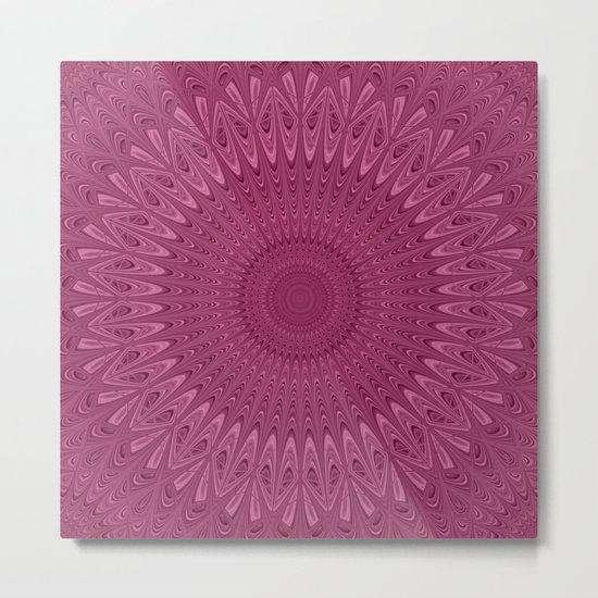 Violet red mandala Metal Print