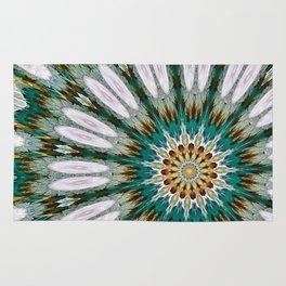 Cozy Flower Mandala 3-HDR Rug
