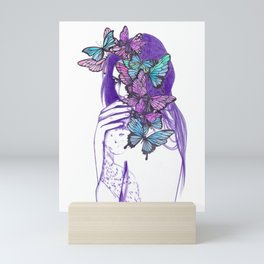 Amongst Butterflies Mini Art Print