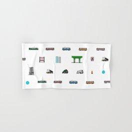 Boston Pixel Pattern Hand & Bath Towel