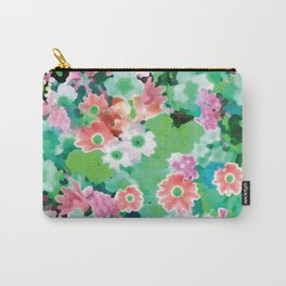 Spring Green Watercolor Carry-All Pouch
