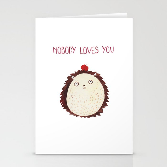 Postcard for your enemy Stationery Cards