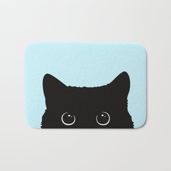 Black cat I Badematte