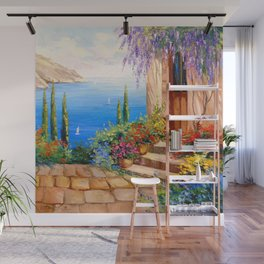Morning by the sea Wall Mural