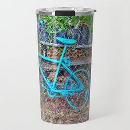 Turquoise Bicycle Travel Mug
