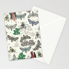 Moths and rocks. Stationery Cards