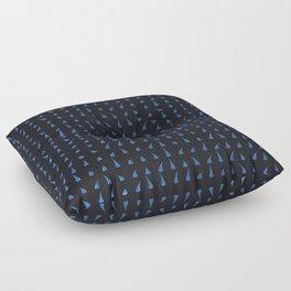 Parametric Blobs dark Floor Pillow